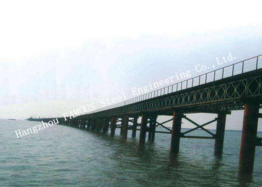 Cina Multispan Single Lane Prefabrikasi Bailey Steel Bridge Construction Assembly pabrik