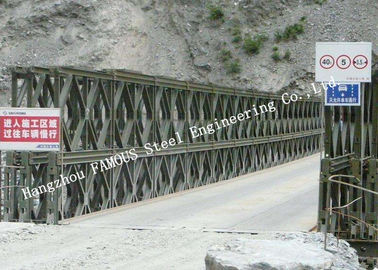 Cina Hot Galvanized Double Lane Pre - Direkayasa Bailey Bridge Konstruksi Baja 200 Jenis pabrik